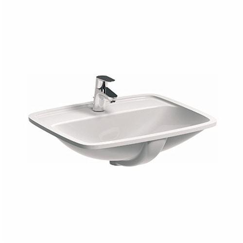 domino keramik waschbecken weiss 55 cm 82629 waschtisch handwaschbecken ebay. Black Bedroom Furniture Sets. Home Design Ideas