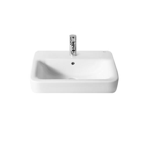 domino keramik waschbecken weiss 55 cm 93798 waschtisch handwaschbecken ebay. Black Bedroom Furniture Sets. Home Design Ideas